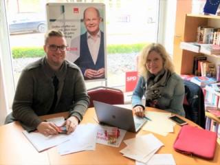 Wahlkampfplanung mit Jean und Olaf
