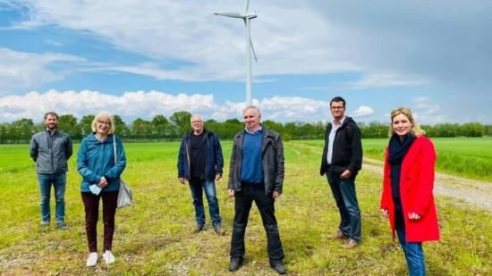 Besuch am Windradstandort Ehlershausen