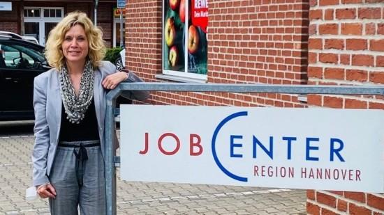 Rebecca unterwegs im Jobcenter Burgwedel